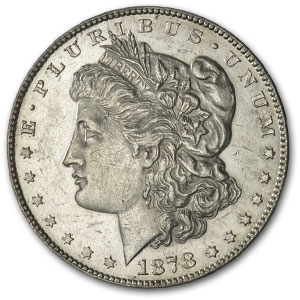 1878-S Morgan Dollar AU-50 (VAM-18, Spaghetti Wings)