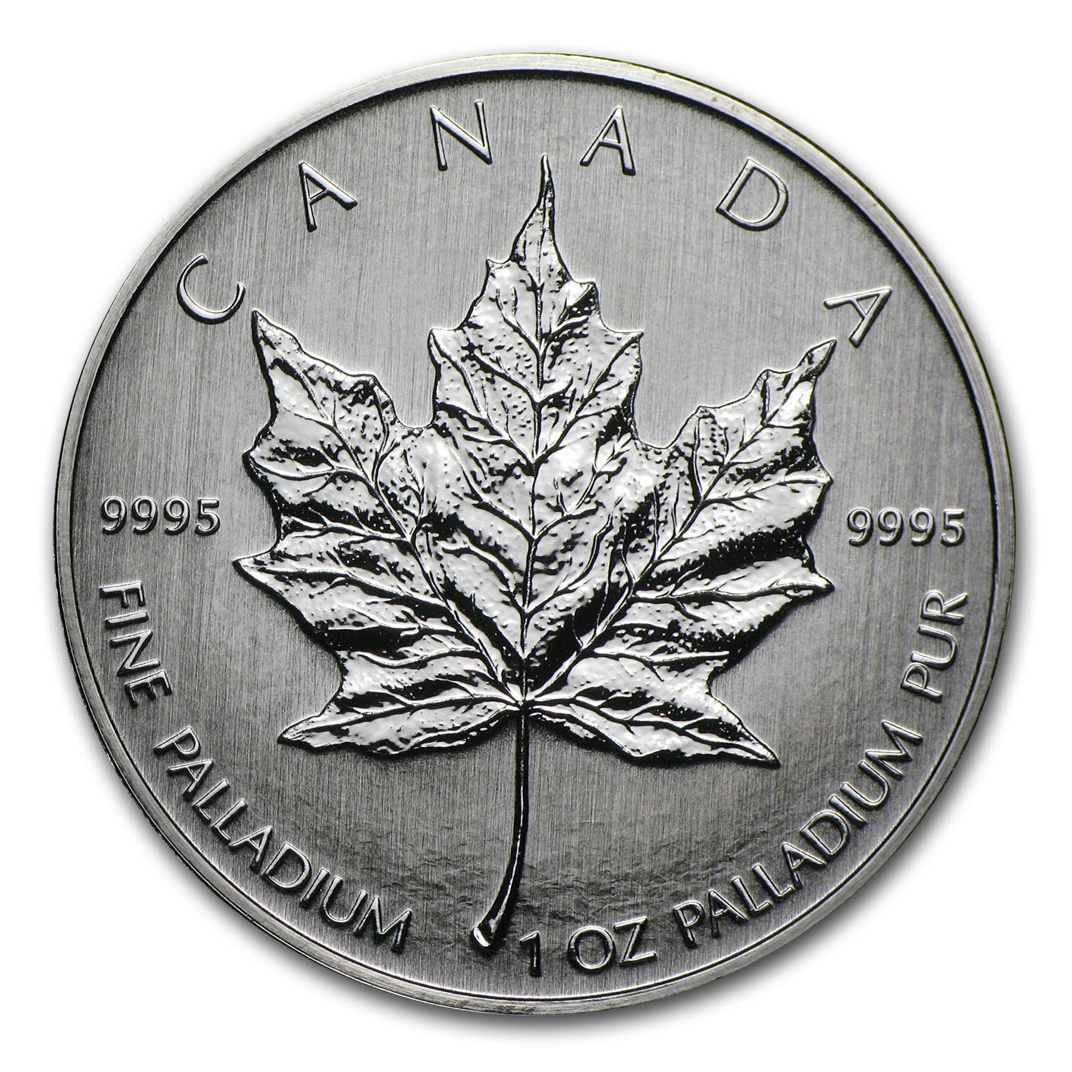 2009 1 oz Palladium Canadian Maple Leaf BU