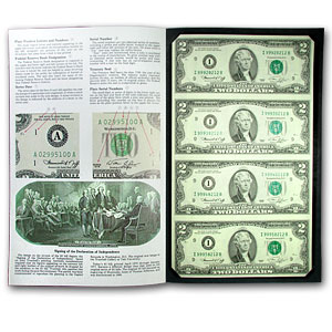 1976 (I-Minneapolis) $2.00 FRN CU (Uncut sheet of 4)