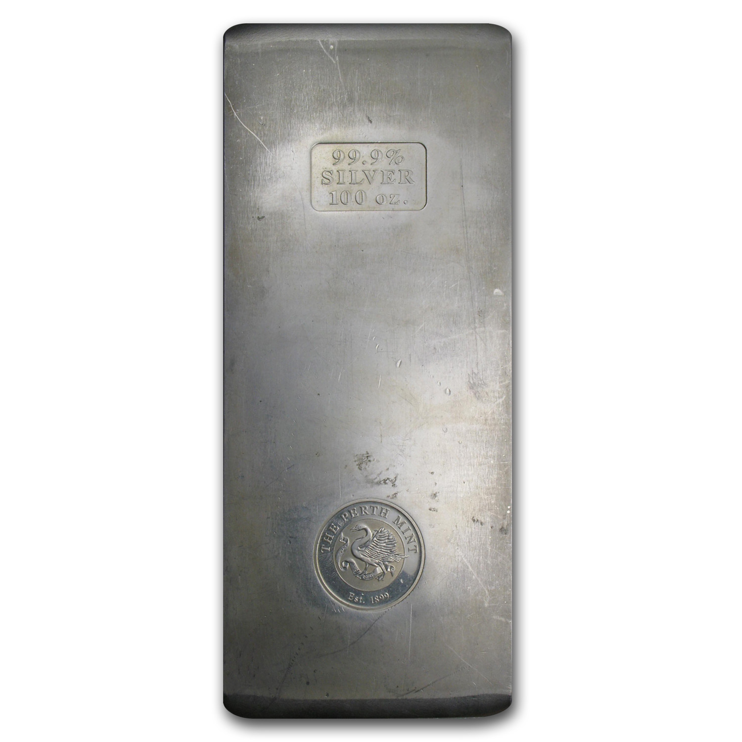 100 oz Silver Bar - Perth Mint (Vintage/Pressed)