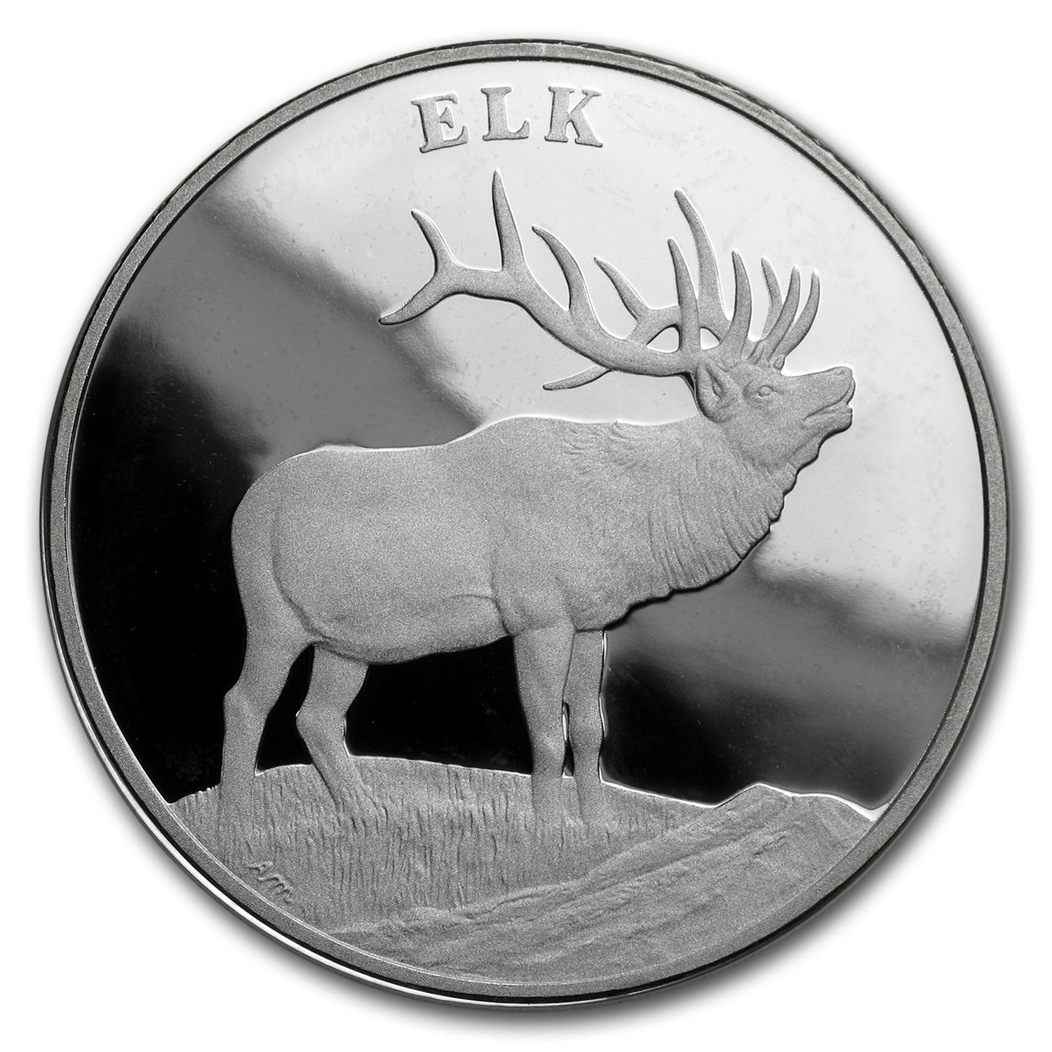 2003 National Wildlife Refuge System Proof Silver Medal Elk