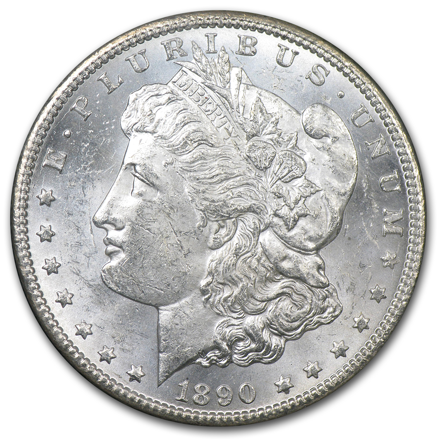1890-CC Morgan Dollar Brilliant Uncirculated - GSA Holder