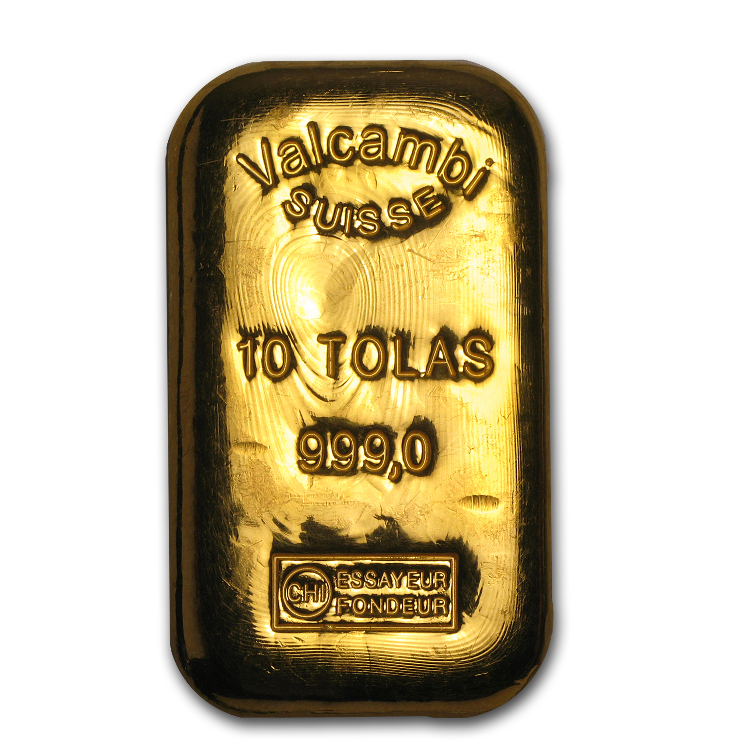 10 Tolas Gold Bar - Valcambi Suisse (3.75 oz)