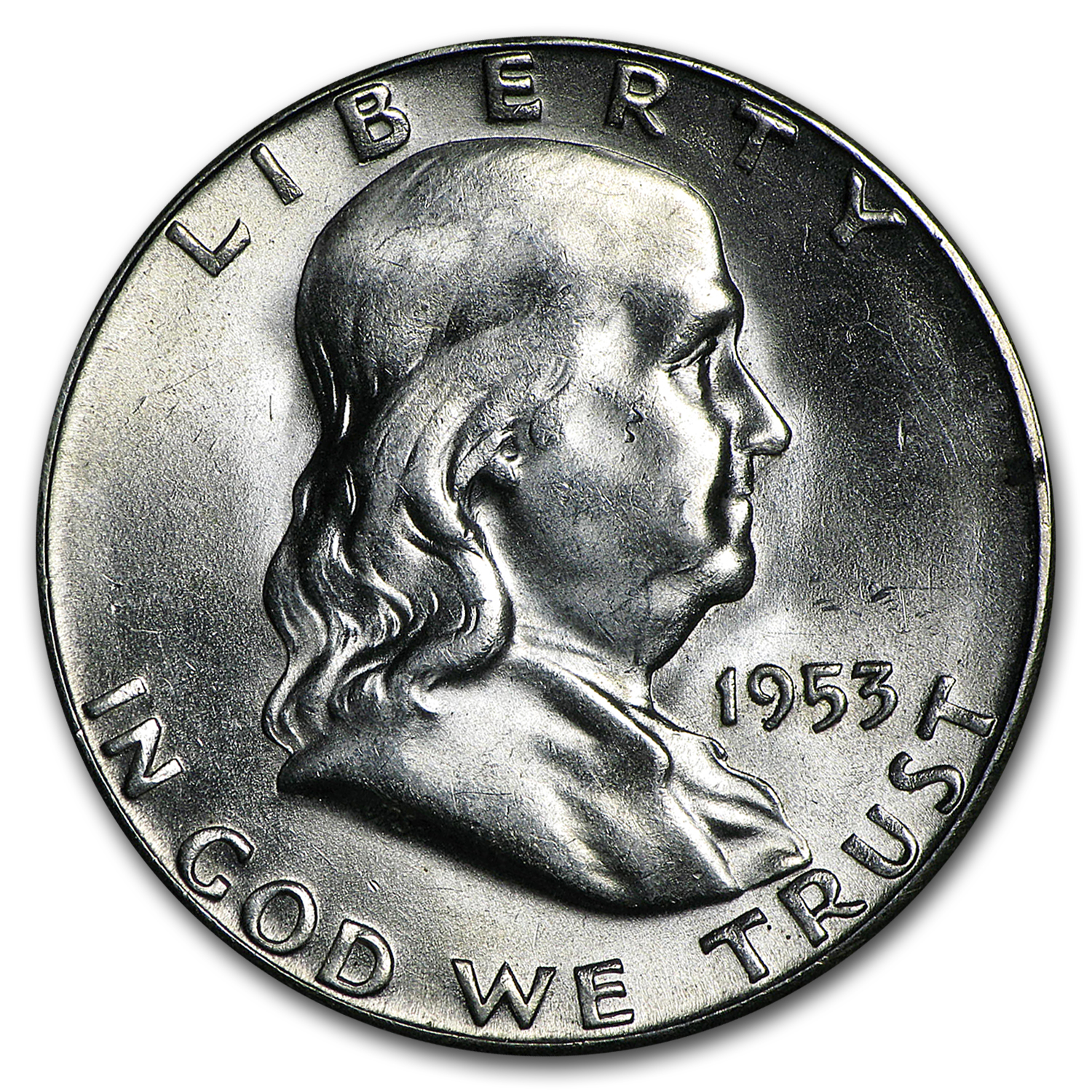 1953-S Franklin Half Dollar BU