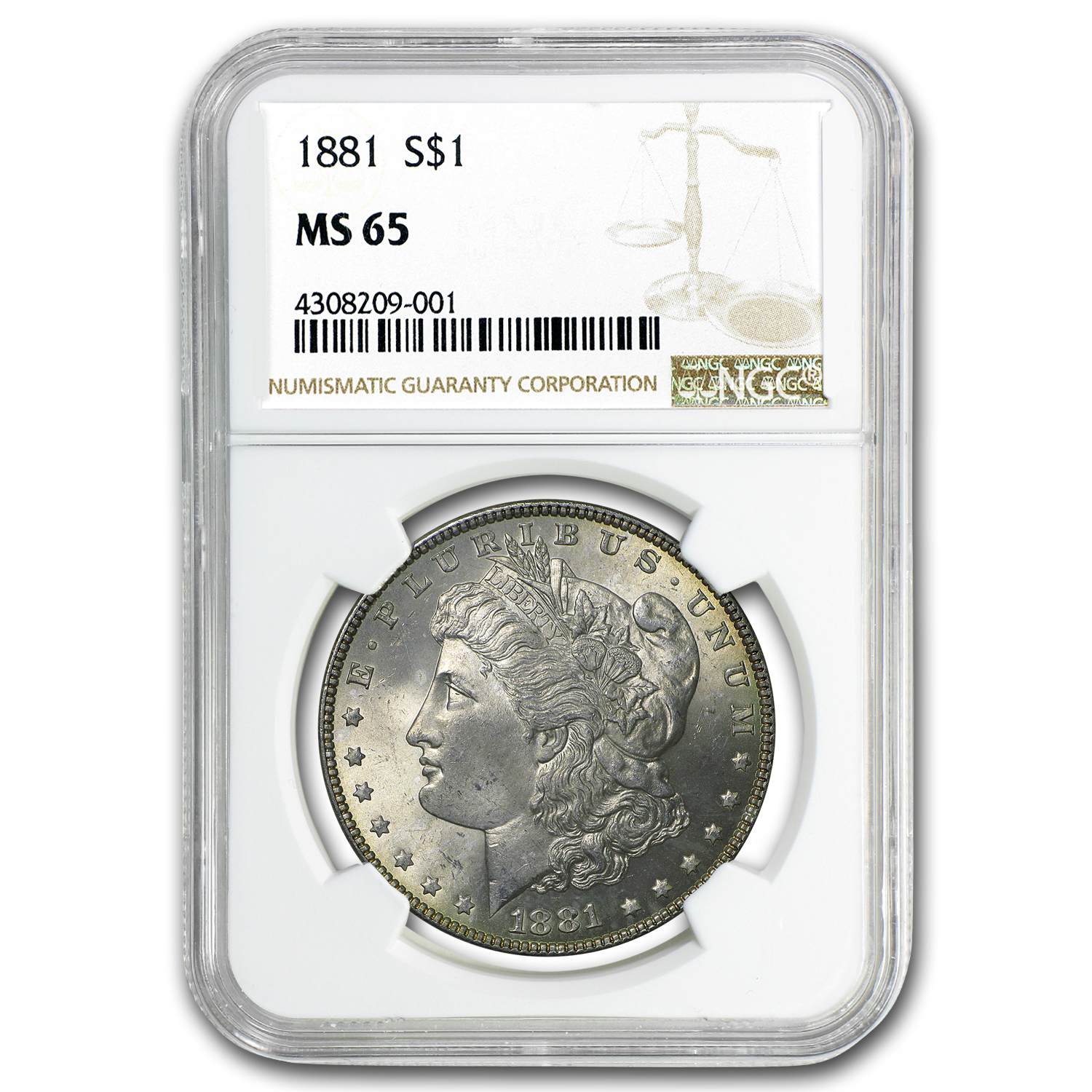 1881 Morgan Dollar MS-65 NGC