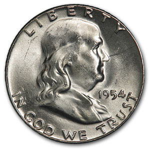 1954 Franklin Half Dollar BU