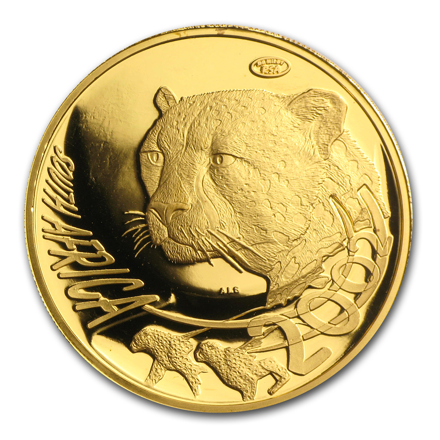 2002 1 oz Gold South African Natura (Cheetah) (Proof)