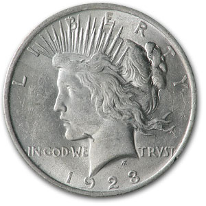 1923 Peace Dollar Almost Uncirculated VAM-1A Whisker Jaw Top-50