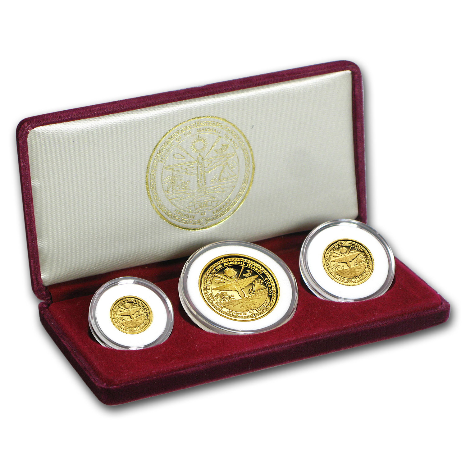1986 Marshall Islands 3-Coin Gold Proof Set
