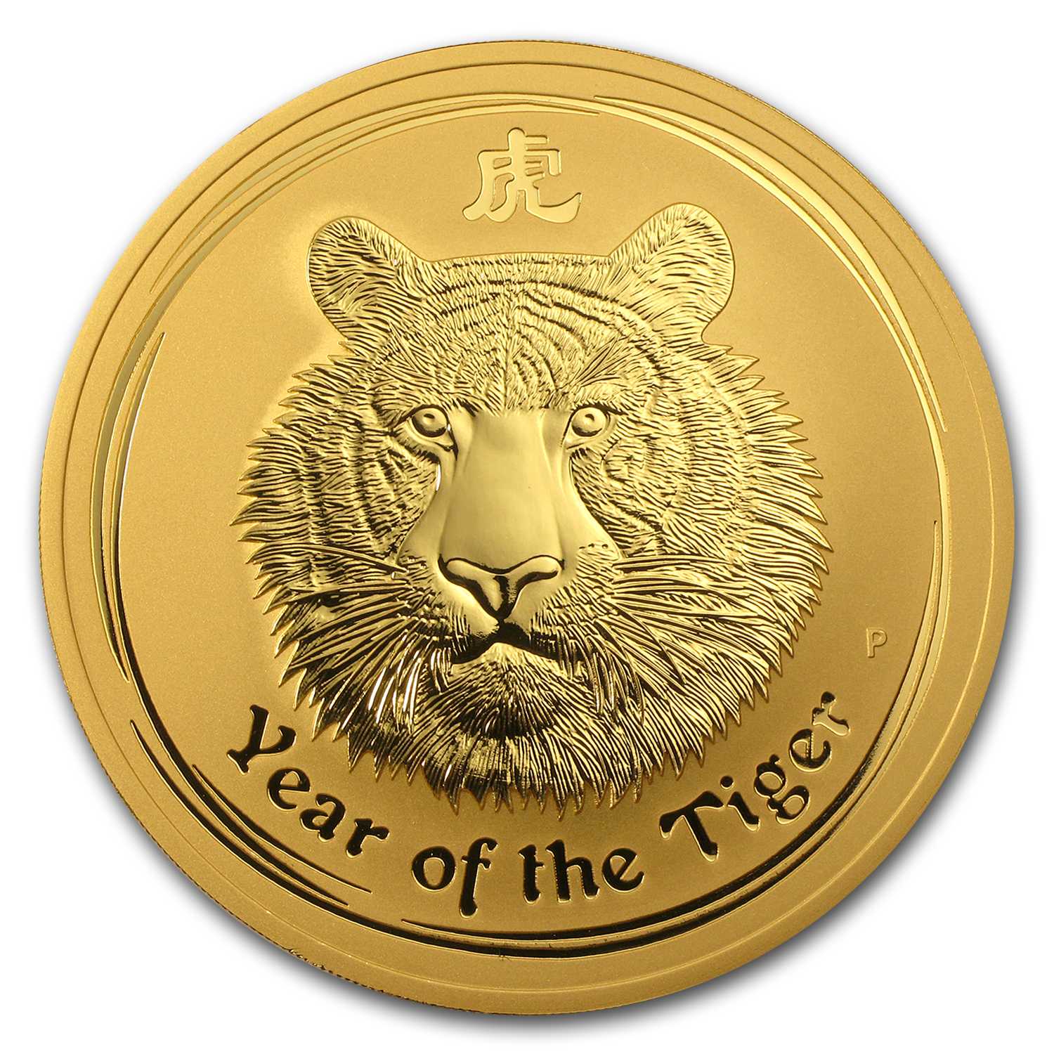 2010 Australia 10 oz Gold Lunar Tiger BU (Series II)