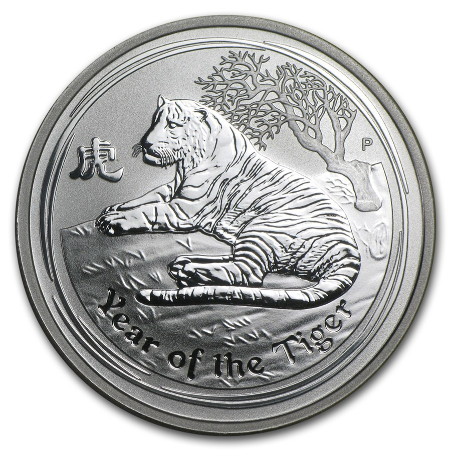 2010 Australia 1 2 Oz Silver Year Of The Tiger Bu Series