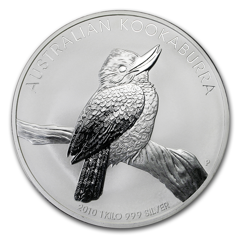 Kilo Silvers: 2010 Australia 1 Kilo Silver Kookaburra BU