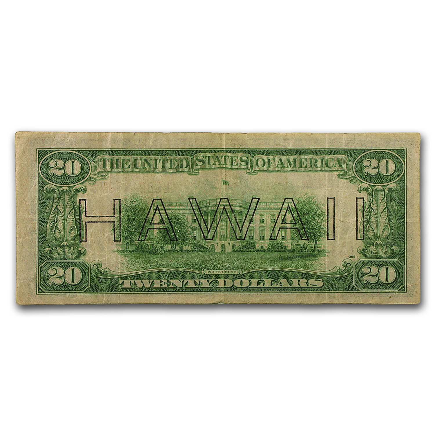 1934-A $20 Brown Seal Hawaii Fine