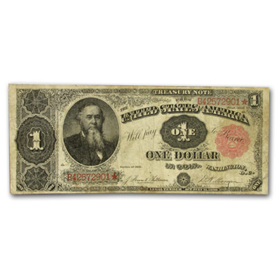 1891 Treasury Note $1.00 - Stanton (Fine) FR #351