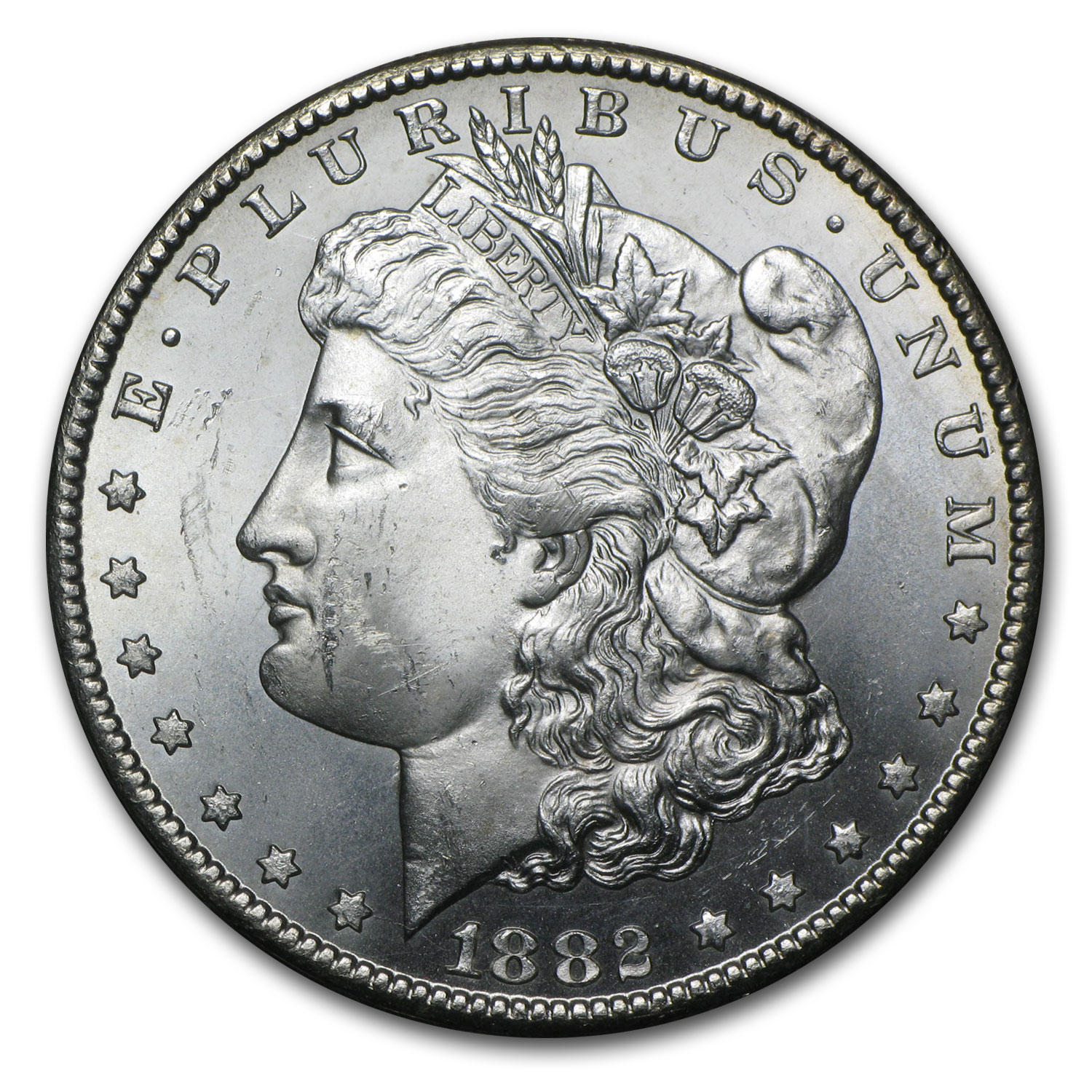 1882-CC Morgan Dollar BU