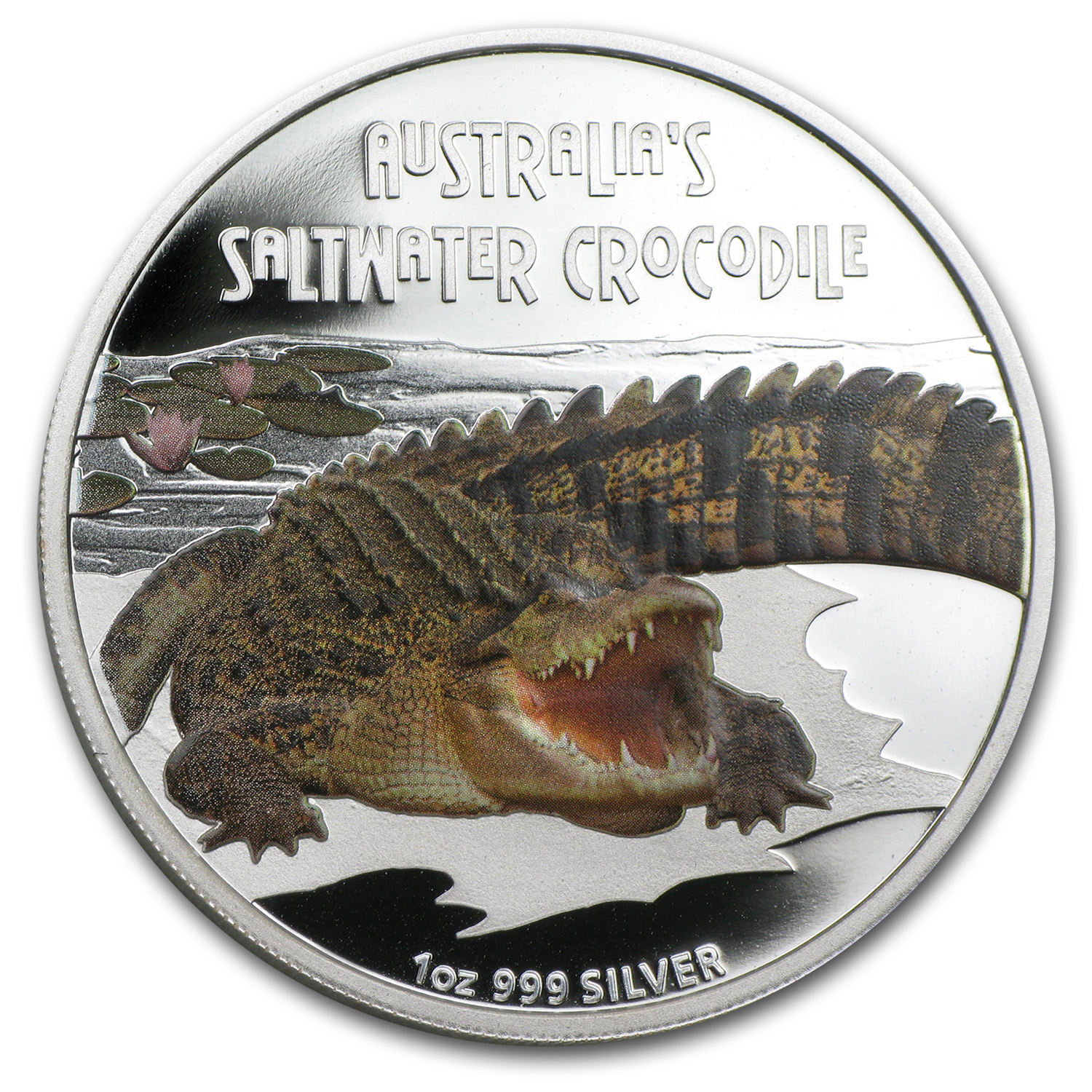 2009 Tuvalu 1 oz Silver Saltwater Crocodile Proof