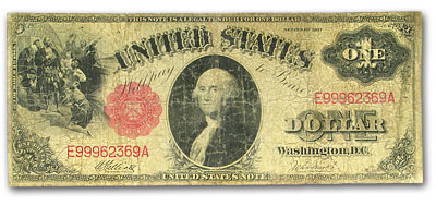 1917 $1.00 Legal Tender George Washington Good