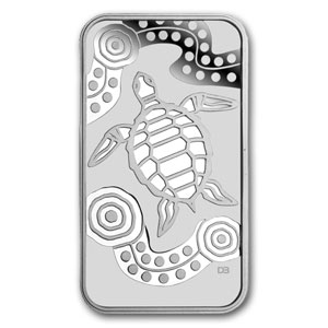 2009 Australia 1 oz Silver Turtle Dreaming (Rectangle)