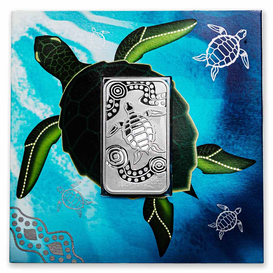 2009 1 oz Silver Australian Turtle Dreaming (Rectangle)