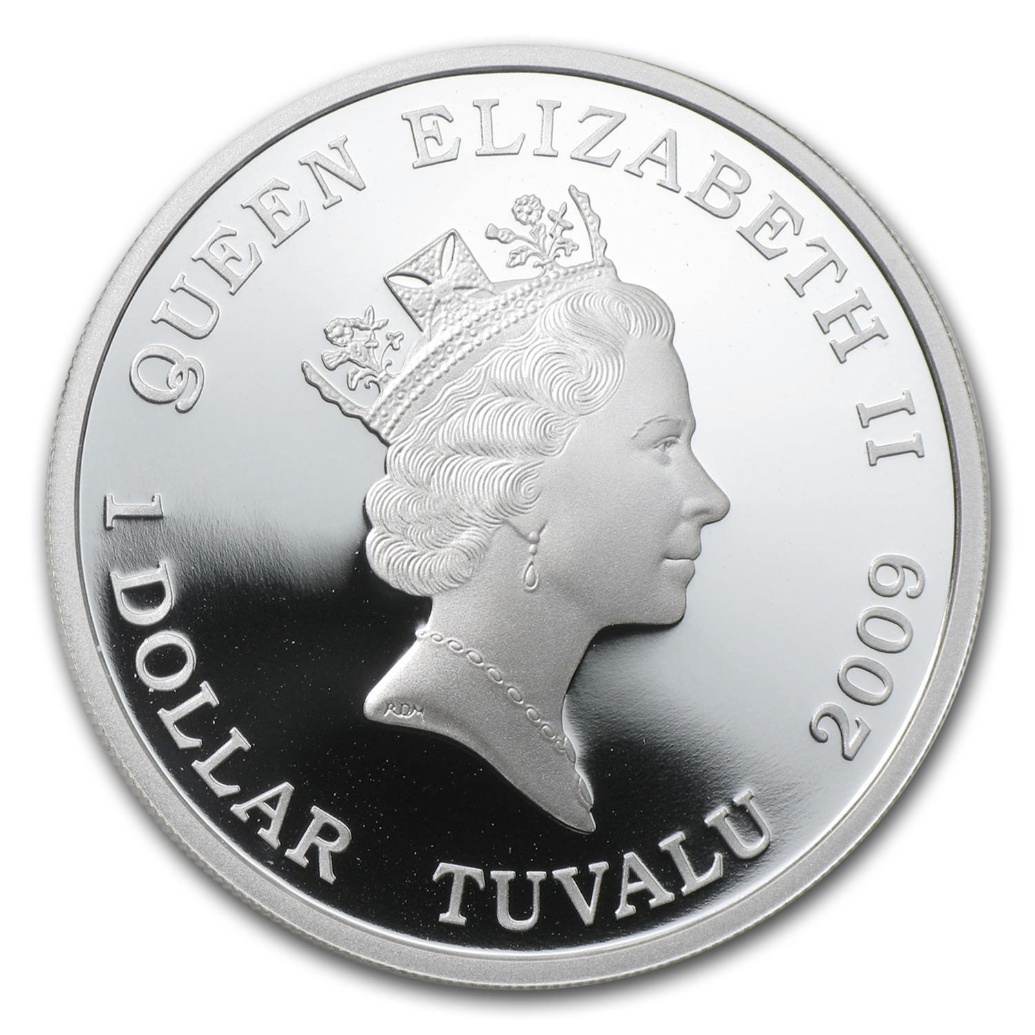 2009 Tuvalu 1 oz Silver Barbie 50th Anniversary Proof