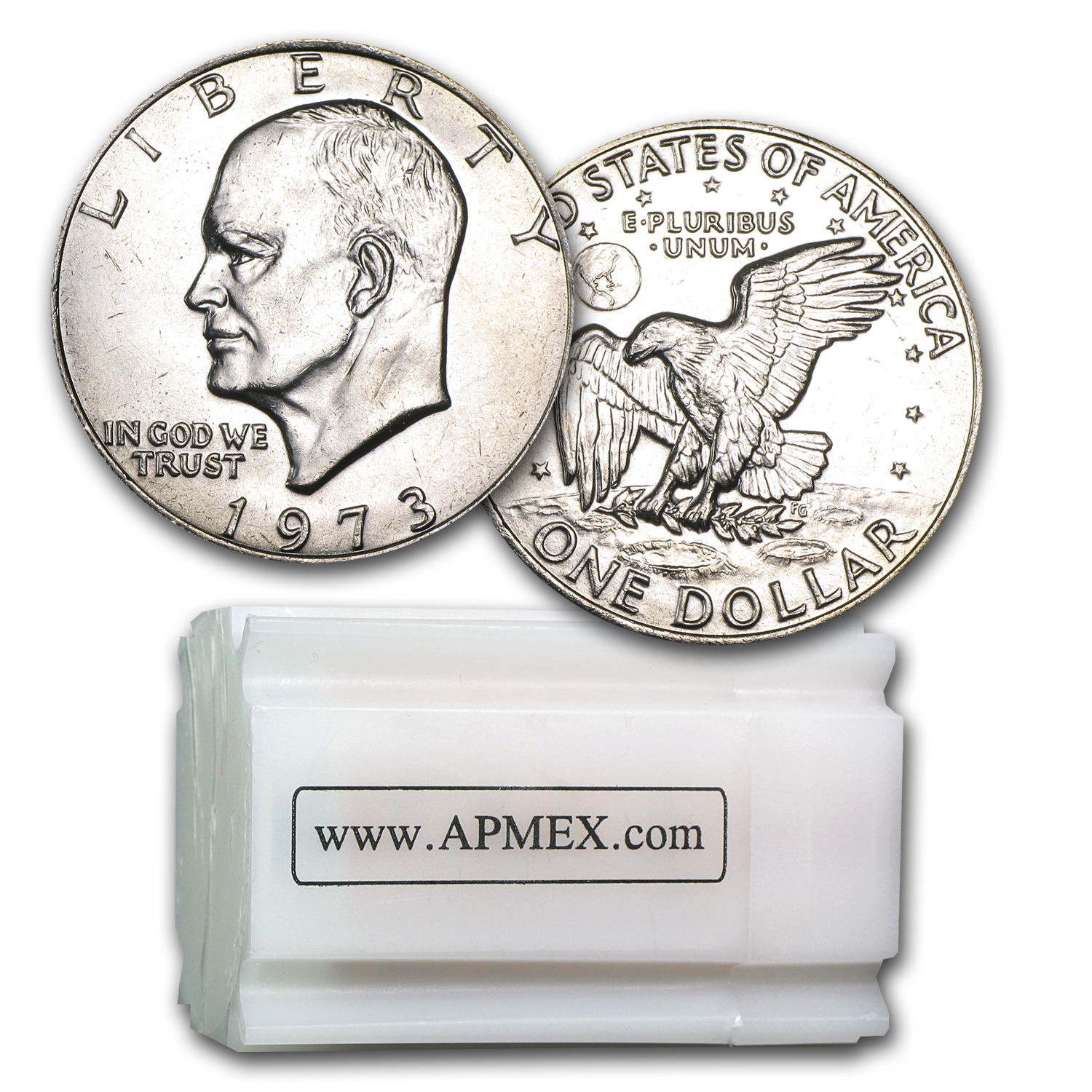 1973 Clad Eisenhower Dollar 20-Coin Roll BU