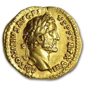 Roman Gold Aureus Emperor Antoninus Pius 138 161 Ad