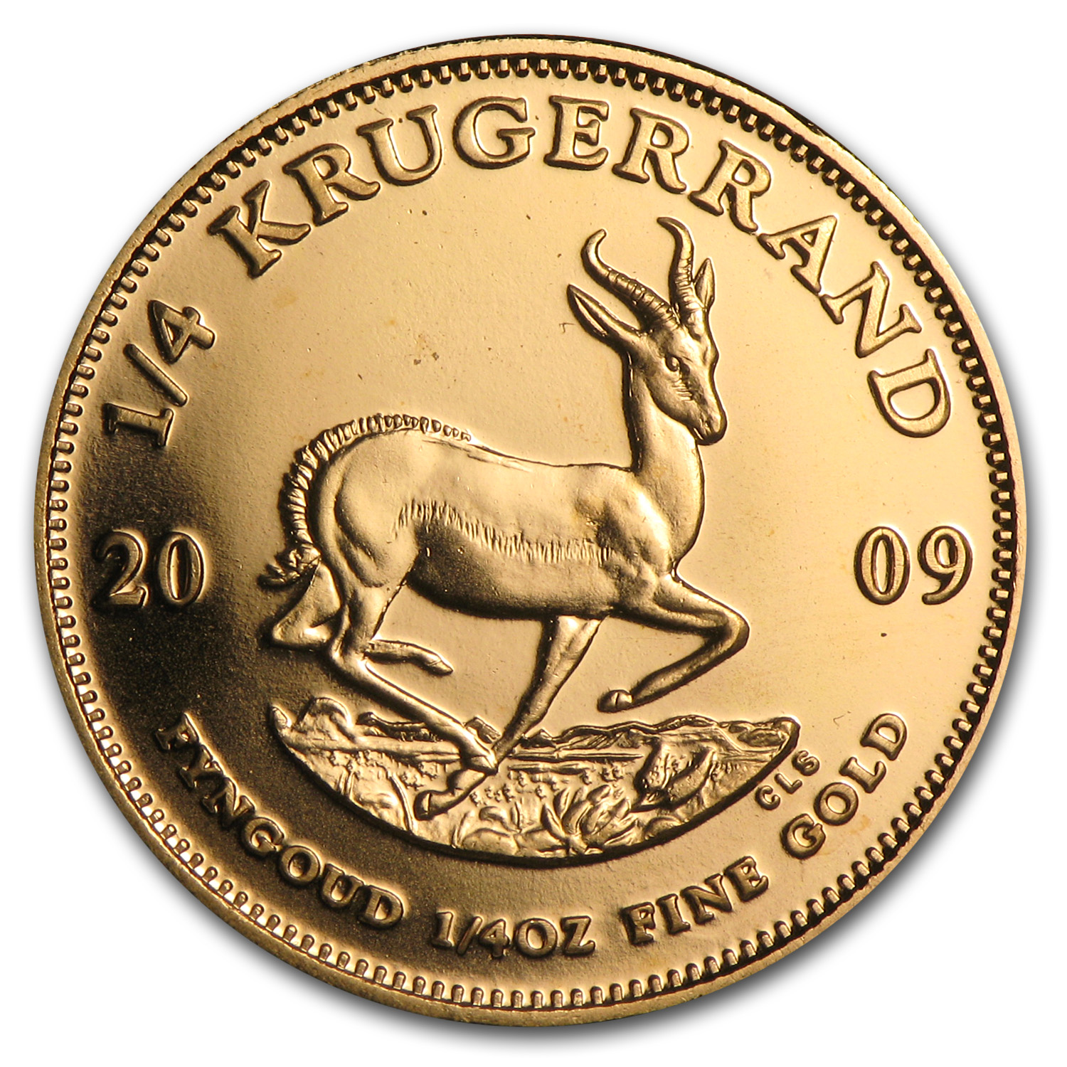 2009 South Africa 1/4 oz Gold Krugerrand