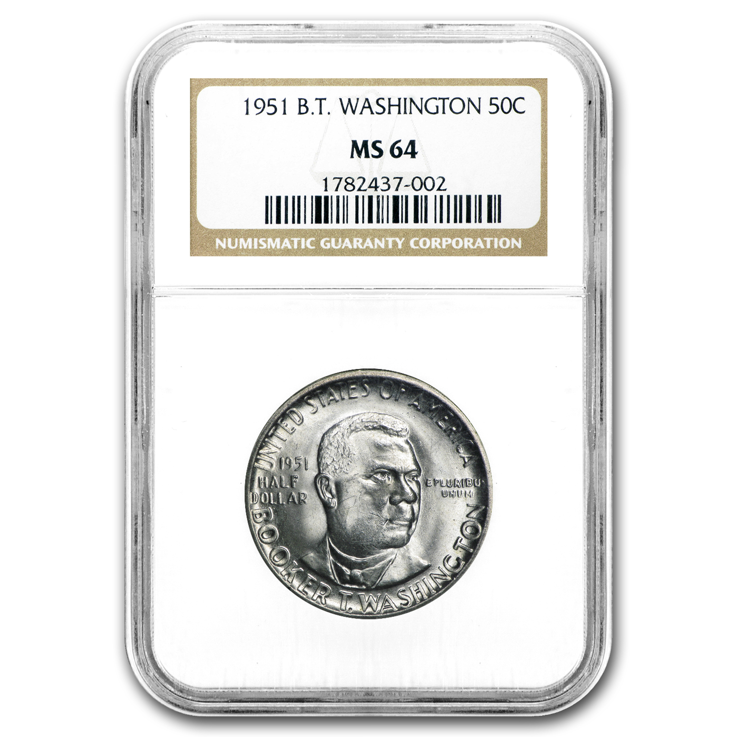 1951 Booker T. Washington Half Dollar MS-64 NGC