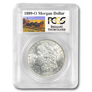 1889-O Brilliant Uncirculated PCGS Stage Coach Silver Dollars