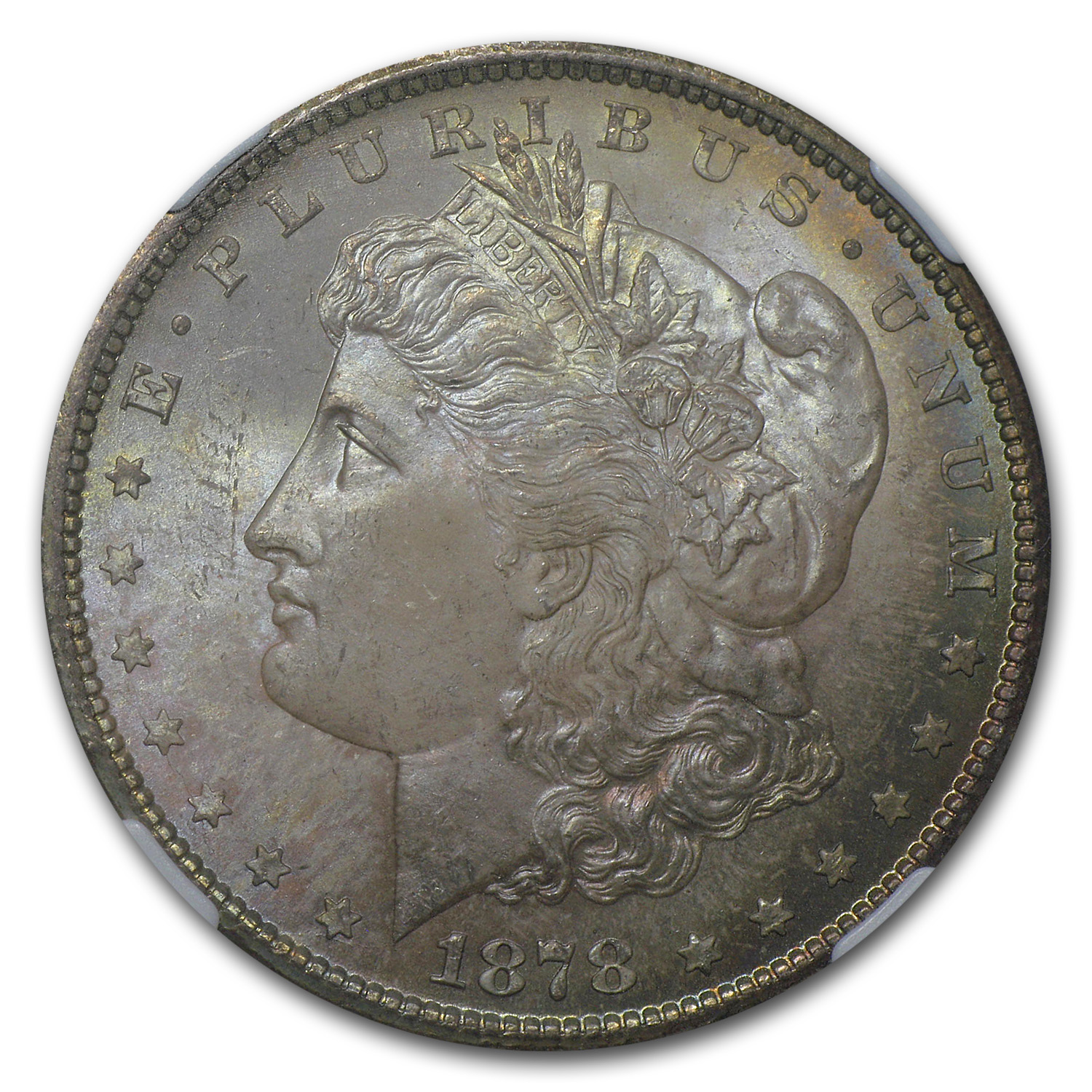 1878-CC Morgan Dollar MS-65 NGC (Dusty Rose Toning)