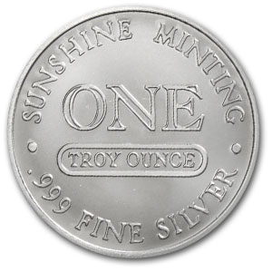 1 oz Silver Round - Sunshine Mint (Vintage Design)