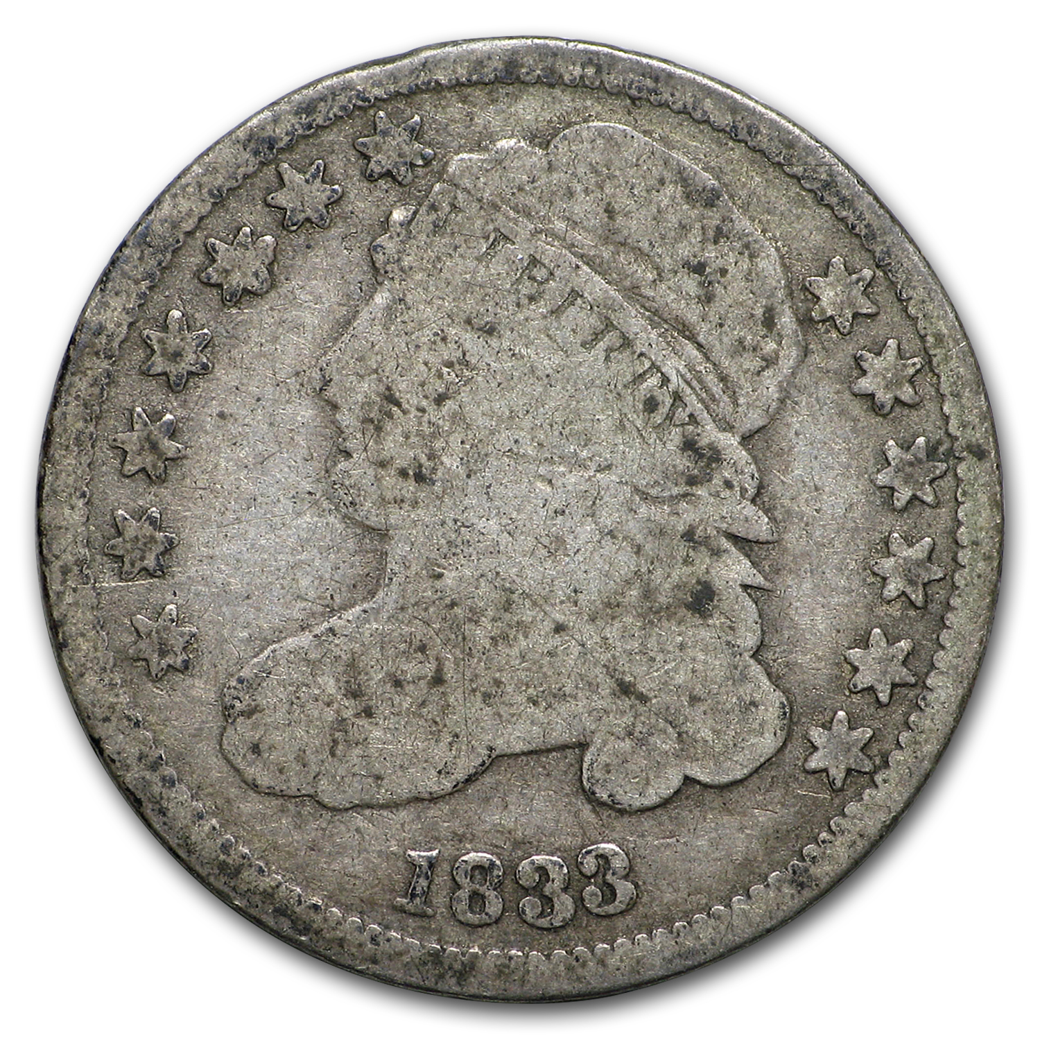 1833 Capped Bust Dime VG