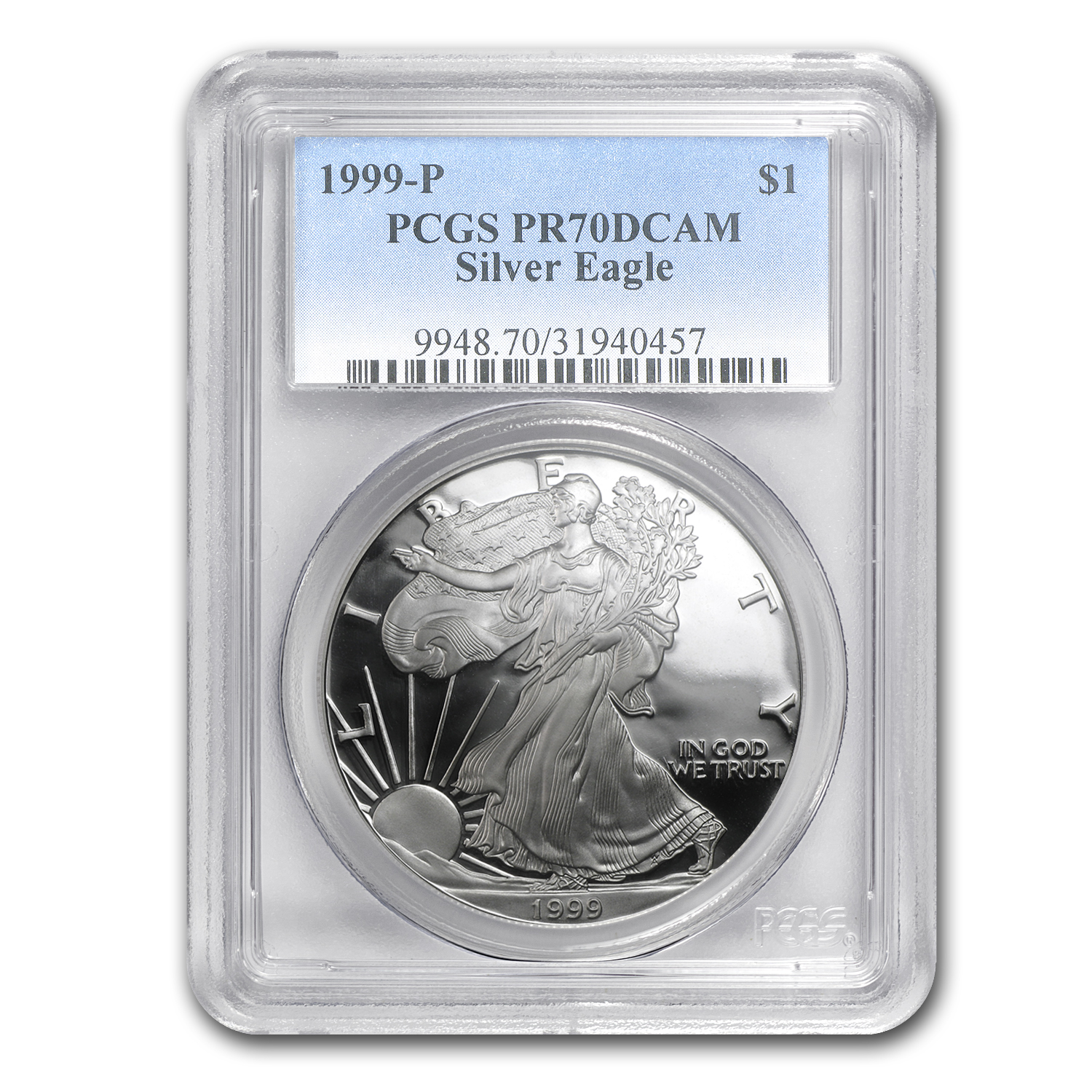 1999-P Proof Silver American Eagle PR-70 PCGS