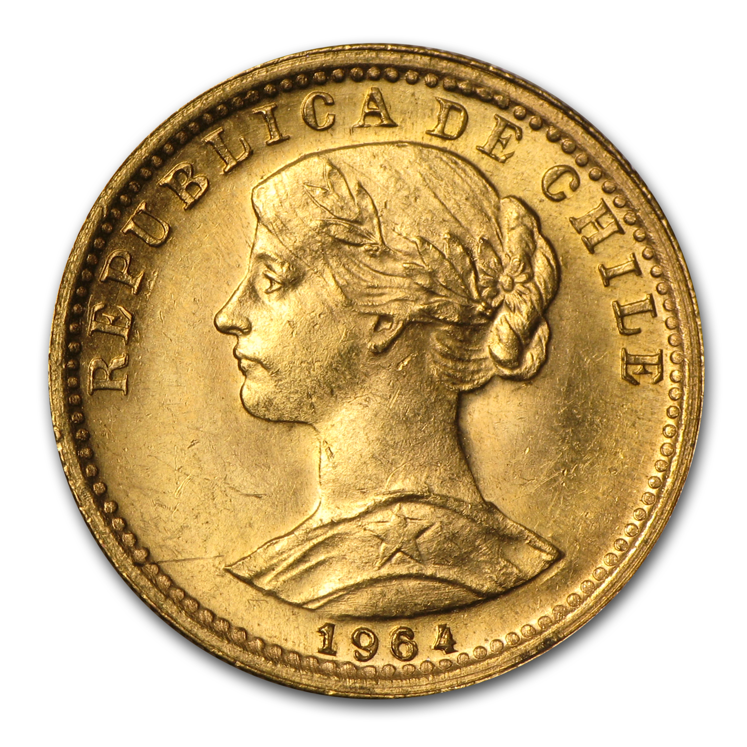 Chile Gold 20 Pesos (Random Dates, AGW .1177)