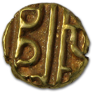 1799-1810 India Gold Fanam of Mysore Avg Circ