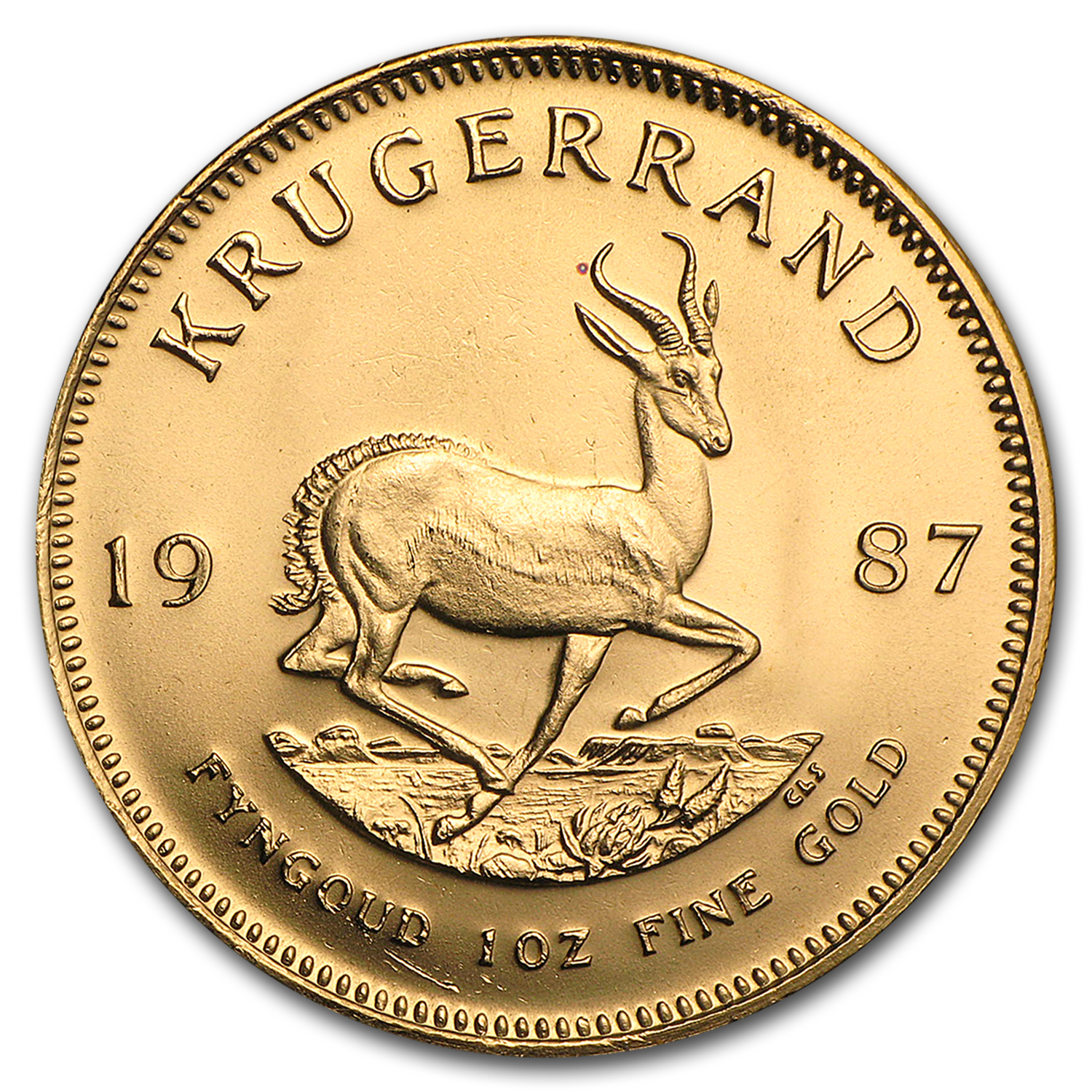 1987 1 oz Gold South African Krugerrand