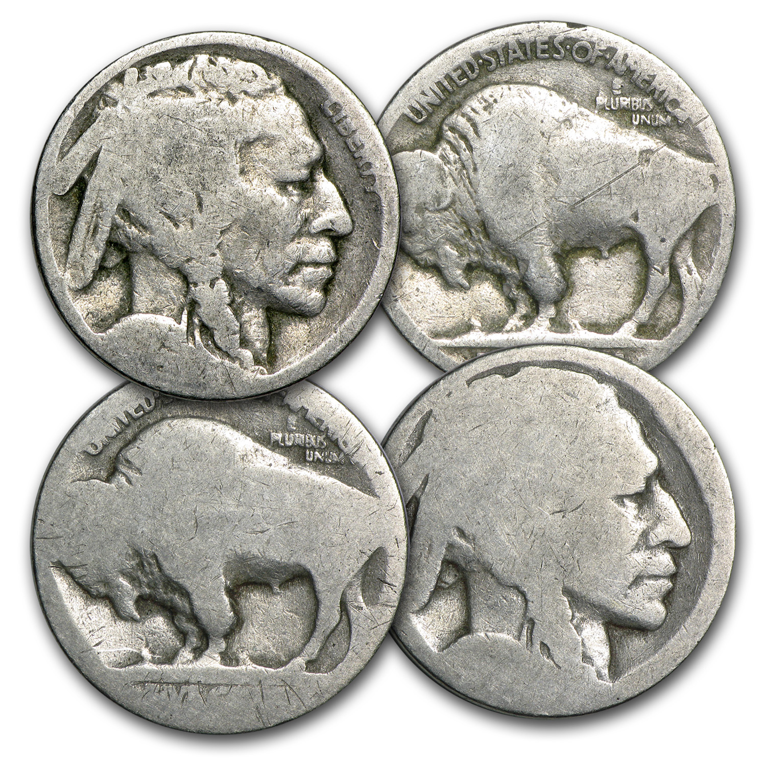 1913-1938 Buffalo Nickels (No Dates)