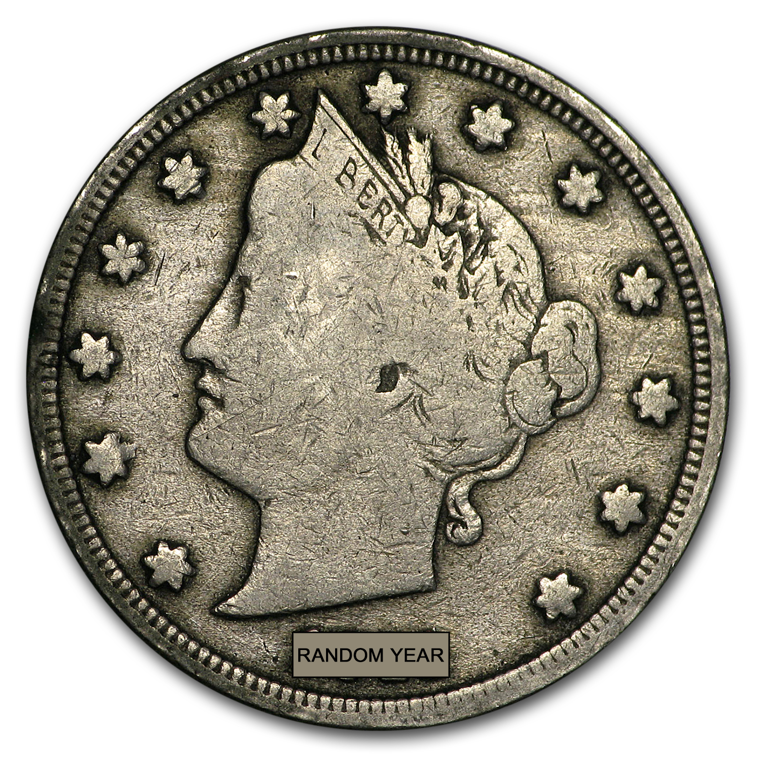 1883-1912 Liberty Head V Nickel Avg Circ