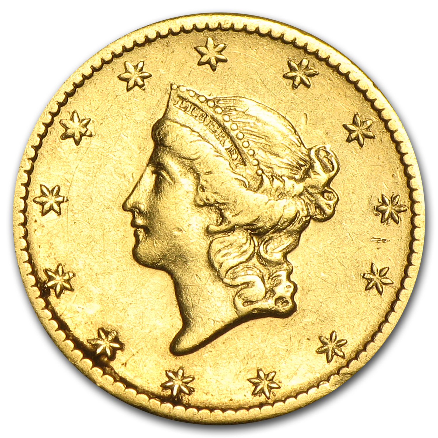 $1 Liberty Head Gold - Type 1 - Cleaned