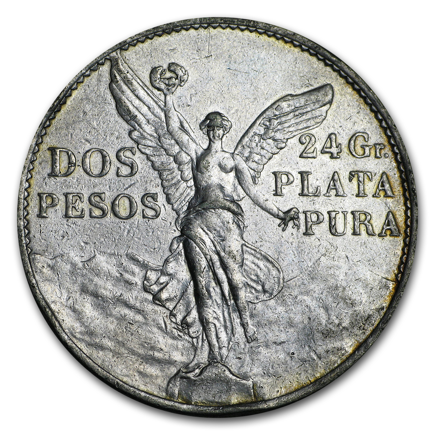 1921 Mexico Silver 2 Pesos Winged Victory XF