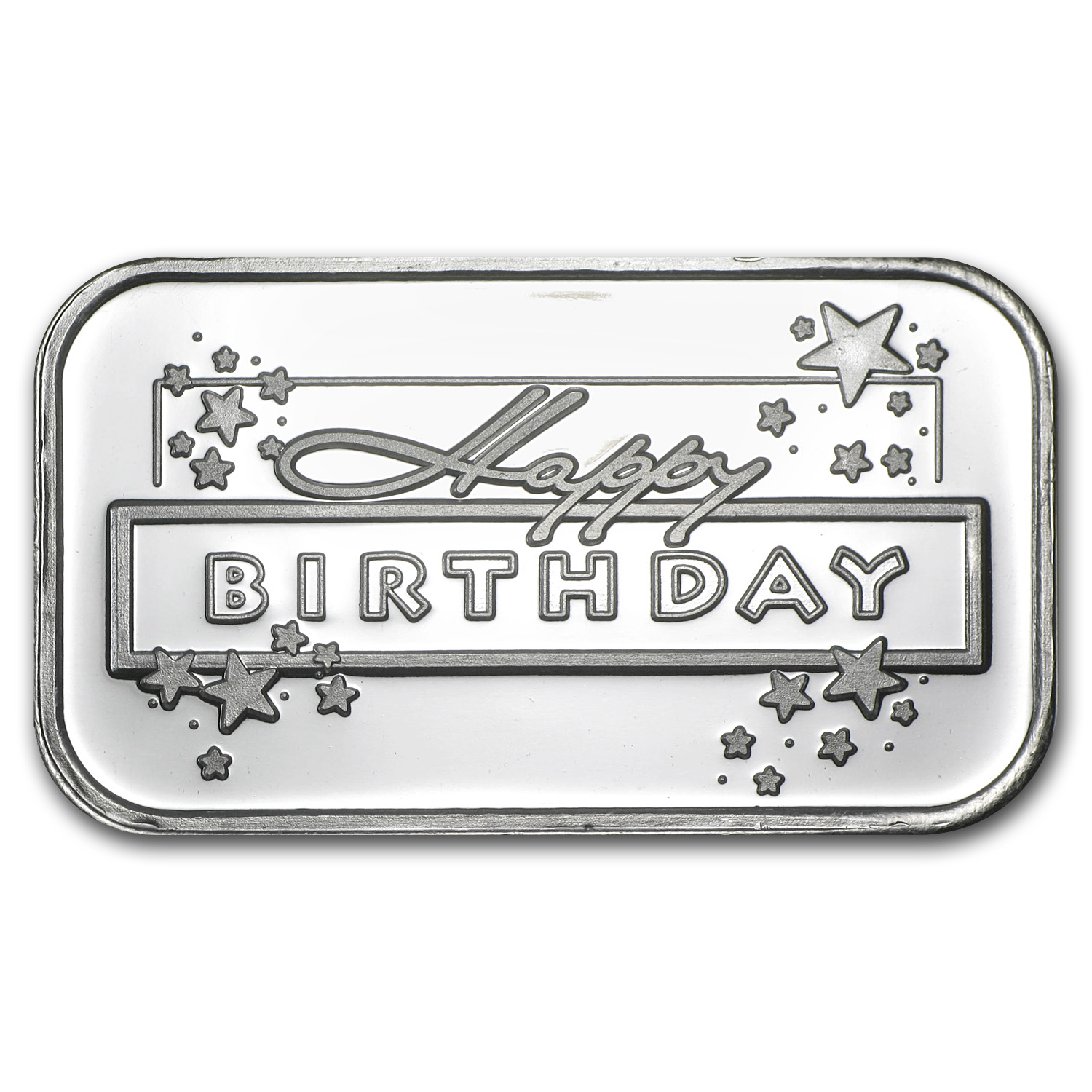1 oz Silver Bar - Happy Birthday Star (w/Box & Capsule)