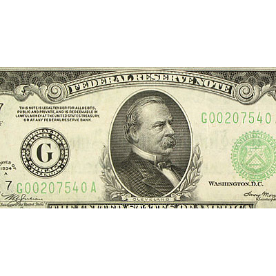 1934-A (G-Chicago) $1,000 FRN (Crisp Almost Uncirculated)