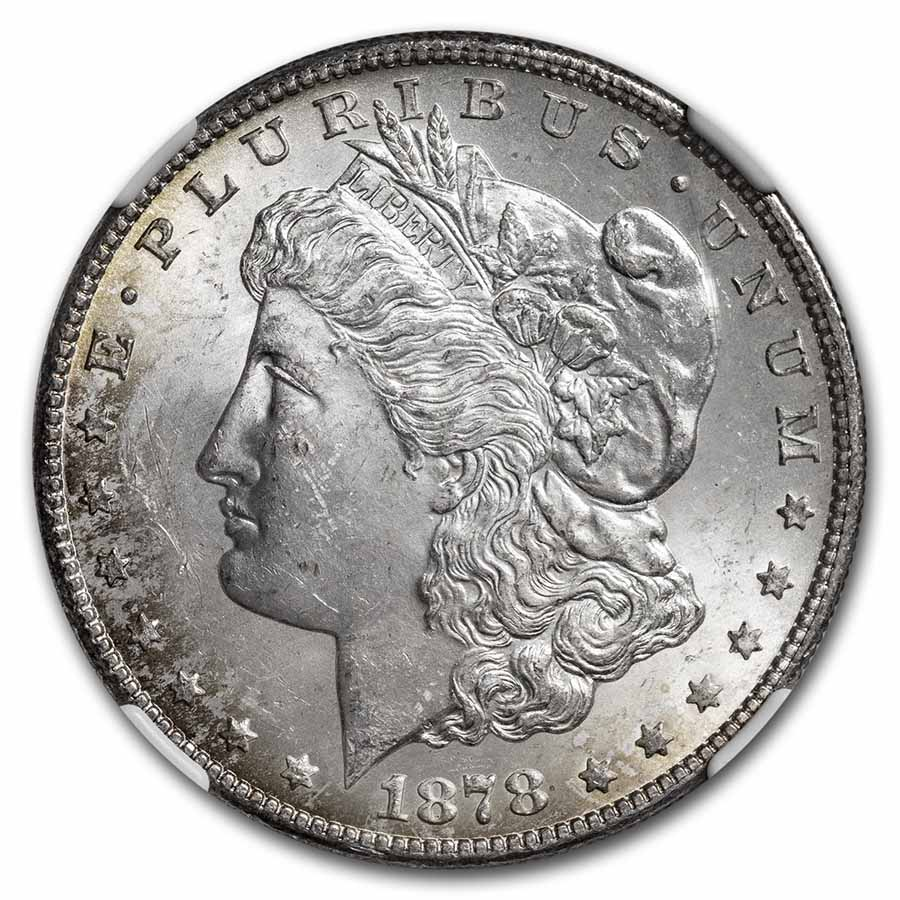 1878-S Morgan Dollar - MS-63 NGC - Toned