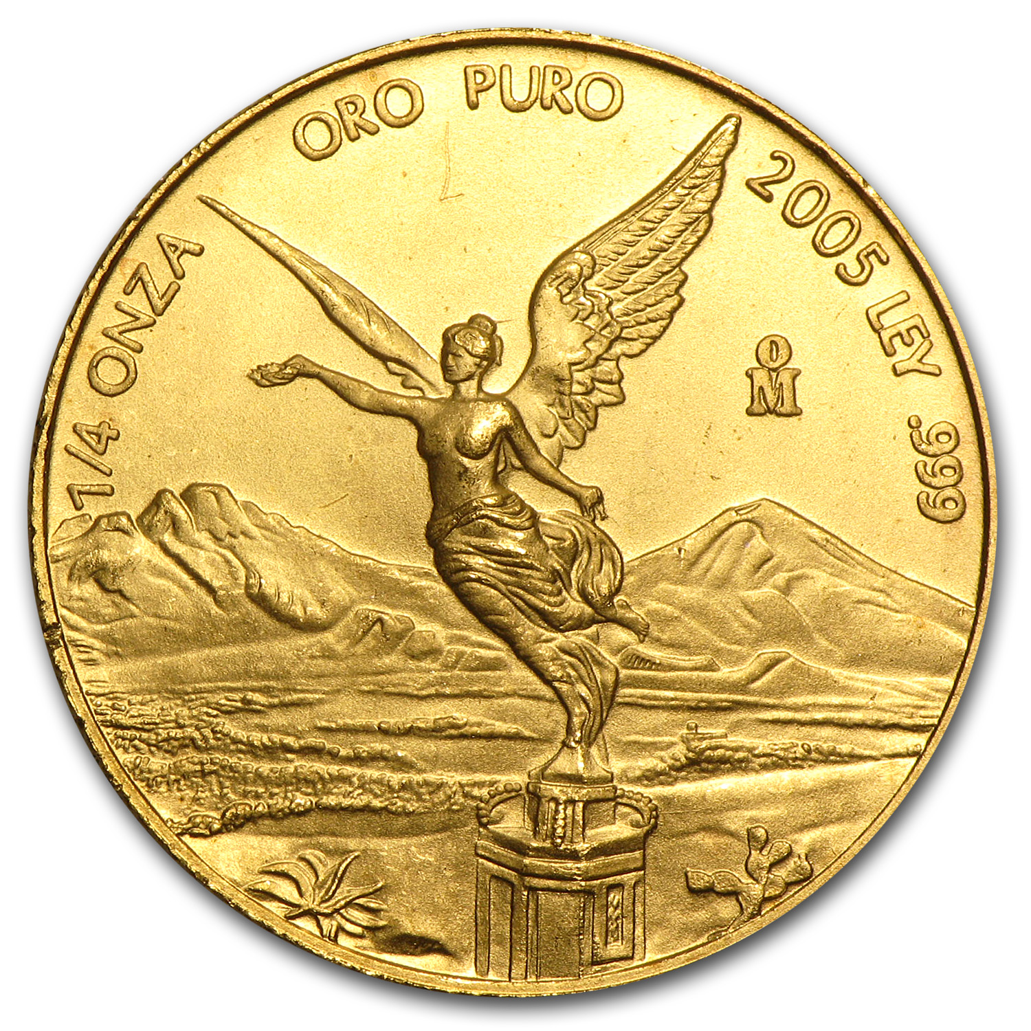 2005 Mexico 1/4 oz Gold Libertad BU