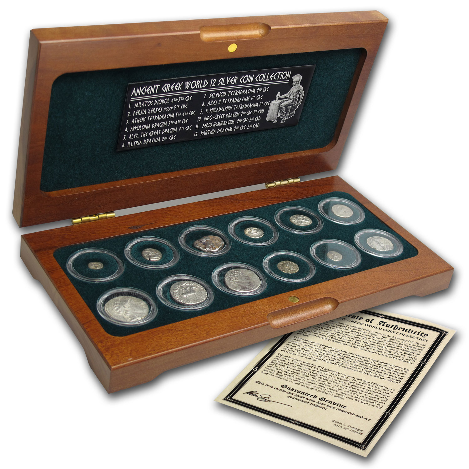 Ancient Greek World - 12 Silver Coin Set (6th CBC - 2nd CAD)