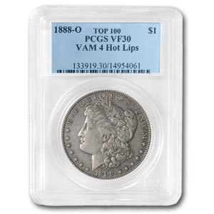 1888-O Morgan Dollar VF-30 PCGS (VAM-4, Hot Lips, Top-100)