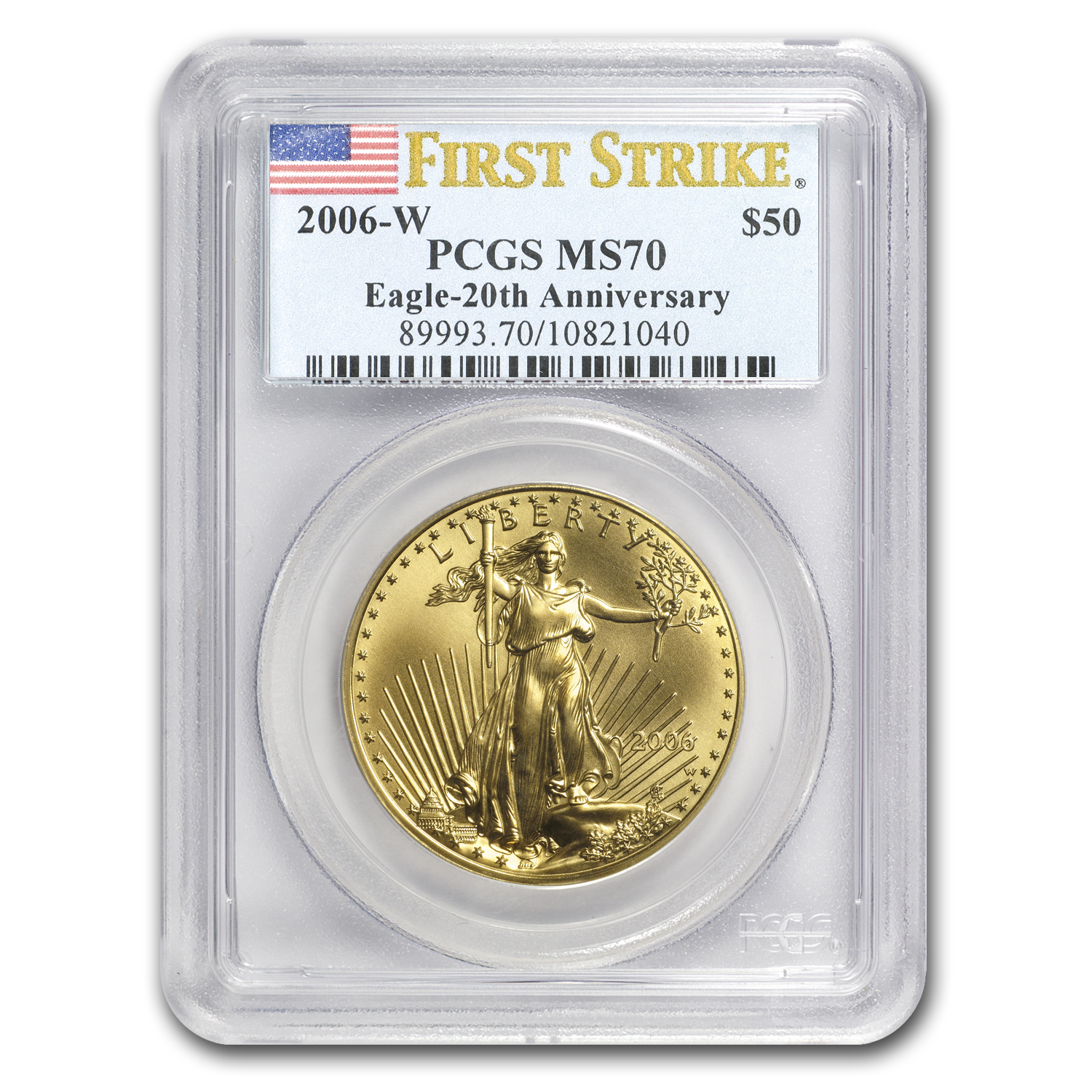 2006-W 1 oz Burnished Gold Eagle MS-70 PCGS (FS)