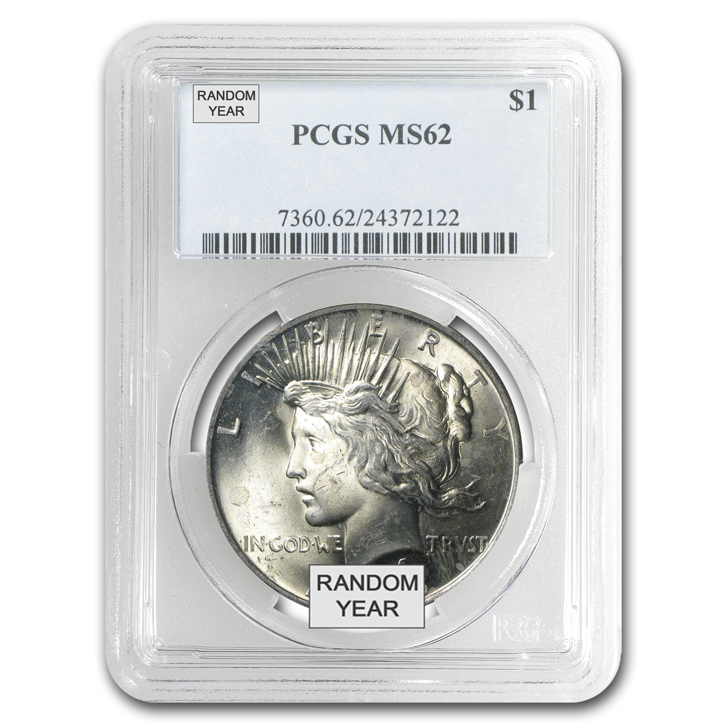 1922-1925 Peace Silver Dollars - MS-62 PCGS