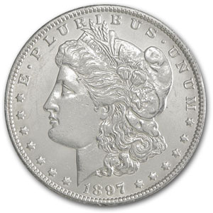 1897-O Morgan Dollar BU Details (Polished)