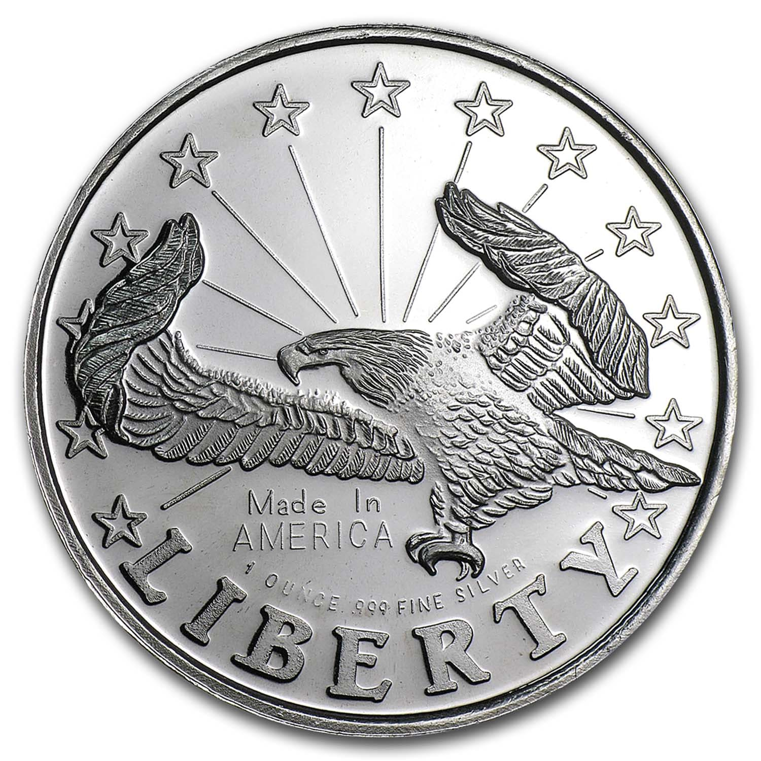 1 oz Silver Rounds - Liberty Eagle